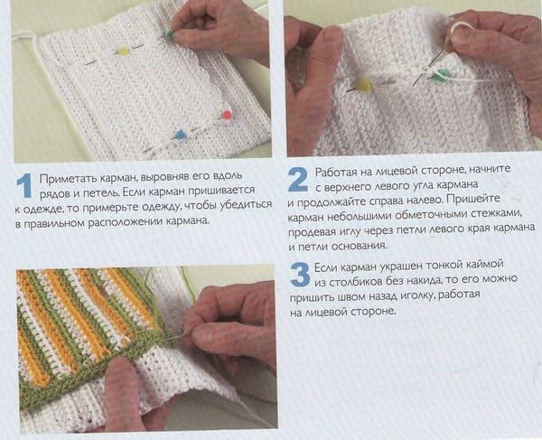 схема Как пришивать накладные карманы