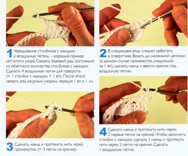 схема Вязание в арочках